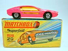 MATCHBOX SF N. 20a LAMBORGHINI MARZAL HOT PINK sottili ruote TOP IN BOX