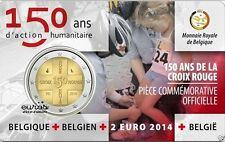 2 euro 2014   150 ans de la CROIX ROUGE * COINCARD * BELGIQUE *