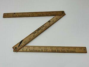 Vintage Craftsman Folding Yardstick  Vintage Folding Ruler  Collectible Ruler  Wood Folding Yard Stick