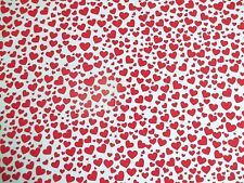 RED VALENTINE HEART Polycotton Fabric 35 cm x 112 cm REMNANT OFFCUT BUNDLE