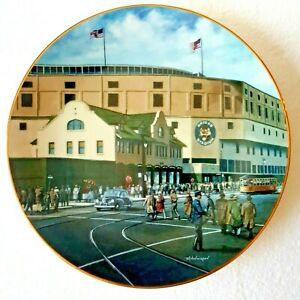 Briggs Stadium Home of The Tigers Collector Plate #4 Detroit Ballpark COA 1994