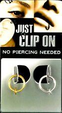 Test Fake Piercing Ring clip on 8 mm 1 x gold 1 x silber Lippen Nase Intim 90011