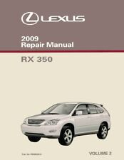 lexus service manual 350 in parts accessories ebay rh ebay ca 2009 Lexus RX 350 Engine Cover Plastics 2009 Lexus RX 350 Problems
