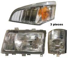 New Driver Side Corner Marker & Headlight 3Pc FOR 2005-2010 Mitsubishi FUSO