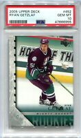 2005-06 Upper Deck 452 Ryan Getzlaf Rookie YG Young Guns PSA 10 GEM MT