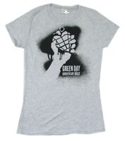 Green Day Grey Grenade Girls Juniors Grey T Shirt New Official American Idiot