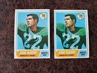 (2) 1968 Topps Football Joe Kapp Rookies #159 - Minnesota Vikings Great