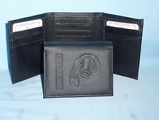 WASHINGTON REDSKINS    Leather TriFold Wallet    NEW    black 3  m3