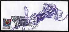 SPYDERMAN - Rob GRANITO Handsignierte Orig.Zeichnung 2007 mit Briefmarke