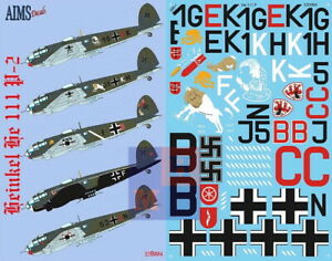"""1/32. Heinkel He-111P, decals by """"AIMS Models"""" 32D004"""
