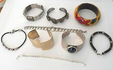 LARGE LOT OF BRACELETS THAT ARE ALL WEARABLE OR FOR RE-SALE, BANGLE, CUFF, PLUS