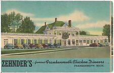 Zehnder's Famous Chicken Dinners Restaurant in Frankenmuth MI Postcard