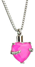 Cremation Jewellery Ashes Memorial Pendant Keepsake Urn - Pink Heart