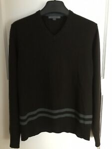 John Varvatos Collection Wool/cashmere/silk V Neck Sweater Size M