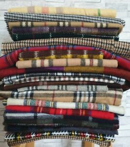 1 x VINTAGE Winter Scarf Mens/Womens Unisex Plaids Check