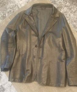 Jil Sander Men's Leather Blazer Jacket IT 54