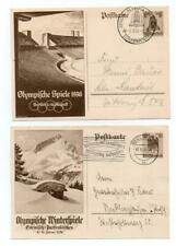 """Germany""""Third Reich""""1936 Olympic Games Postcards/Cover inc Games Postmarks G85"""