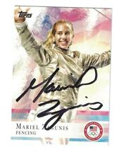 Mariel Zagunis Signed Autographed 2012 Topps Card Olympics Fencing