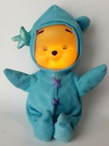 Winnie The Pooh Light Up Glowing Blue Musical Plush Doll Baby 2002 Fisher Price