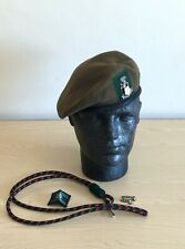 British Army-Issue Yorkshire Regiment Beret, Collar Badge & Lanyard. Size 54cm.