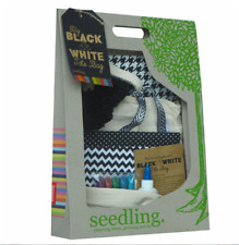 Seedling DIY Black and White Tote Bag