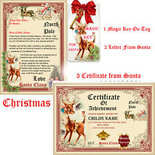 Personalised letter from Santa & certificate magic key Rudolph christmas