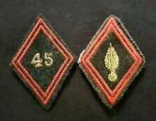 Lot insignes tissu losange de bras 45e Régiment du Génie French Army badges