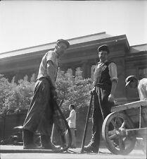 PARIS c. 1948 - Travaux de Voirie  Marteau Piqueur - Négatif 6 x 6 - N6 P145