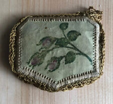 Antique Leather Needle Book With Embroidery 'Best Wishes To My Dear Margaret'