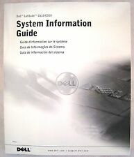 ORIGINAL Dell Latitude C610 / C510 System Information Guide Manual  BRAND NEW