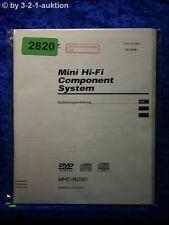 Sony Bedienungsanleitung MHC WZ8D Component System (#2820)