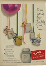 1949 Zippo PRINT AD Lighter Deluxe Engine Turned Town & Country Lady Bradford