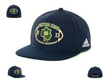 NWT New NCAA Notre Dame Adidas 2013 Championship Game Clover Snapback Hat Cap