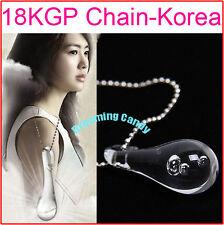 Korean Drama 49 days Tear Drop Innocent Love Necklace with Tears inside pendant