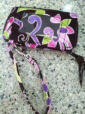 Vera Bradley All in One Wristlet Retired Purple Punch Excellent!