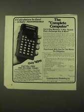 1975 Commodore 4109 Calculator Ad - Complete Computer