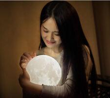 15cm 3D USB LED Magical Moon Night Light Moonlight + Base Table Desk Moon Lamp