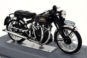 Ixo 1/24 Scale appx 8cms Vincent HRD Black Shadow 1954 + Plinth Model Motorbike