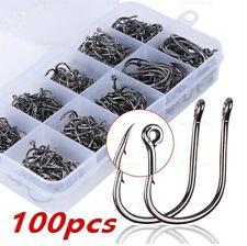 50-500 Fishing Hooks Barb Eyed Coarse Carp Fishing Tackle sizes 3 to 12