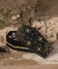 Bethany Lowe COFFIN GIFT BOX  (Made of Pressed Paper - Beads -Glitter) (TD9155)