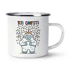 Yeti Confetti Retro Enamel Mug Cup - Funny Animal Camping
