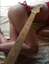 Insane Flame Maple Strat Guitar Neck Jumbo Frets Free Floyd or Schaller Prep