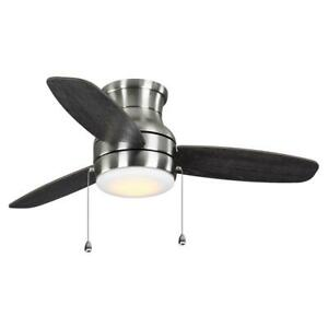 Home Decorators Ashby Park 44 in. White Color Changing LED B. Nickel Ceiling Fan