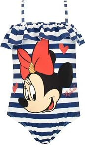 Disney Girls' Minnie Mouse Swimsuit Size 6 Blue New