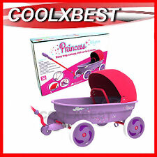 NEW EUROTRIKE PRINCESS WAGON DOLL PRAM w CANOPY & DETACHABLE DOLL CARRIER