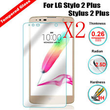 2PCS 9H Real Tempered Glass Film Screen Protector for LG Stylo 2 / Stylus 2 Plus