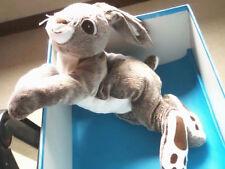 "DOUDOU 2859 / PELUCHE LAPIN-LIEVRE ""IKEA VANDRING"" BLANC/BRUN/GRIS CHINE ...."