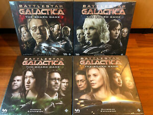 Battlestar Galactica Board Game with All Expansions NEW SEALED! ENGLISH Edition!