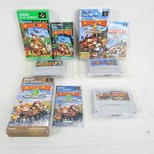 SUPER DONKEY KONG 1 2 3 Set SDK Super Famicom Nintendo Japan Boxed Game sf