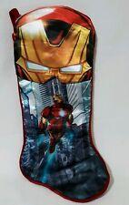 Marvel Avengers Assemble Iron Man 18 In Christmas Stocking Red Gold Shiny Velvet